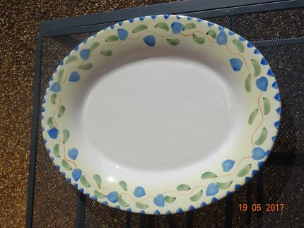 Large Oval Serving Plate/Platter with Floral Pattern