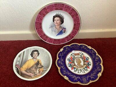 Queen Elizabeth II Plates Limited Editions With Corgi 40th Coronation ....