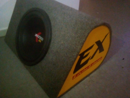 "Kicker 12"" & Kenwood amplifier"