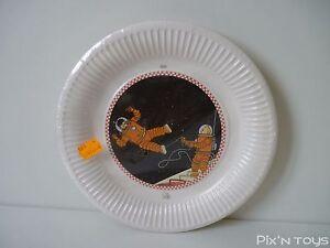Assiettes-en-carton-Tintin-On-a-marche-sur-la-lune-Tifany-Neuf