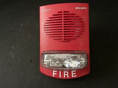 Simplex 4906-9151 Fire Alarm Truealert Speakerstrobe Wall Red
