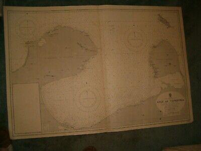 Vintage Admiralty Chart 1529 GULF OF VENEZUELA 1930 edn