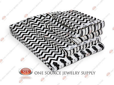 Lots Of 100 Black Chevron Merchandise Bags Gift Bags Store Bags Paper Bags