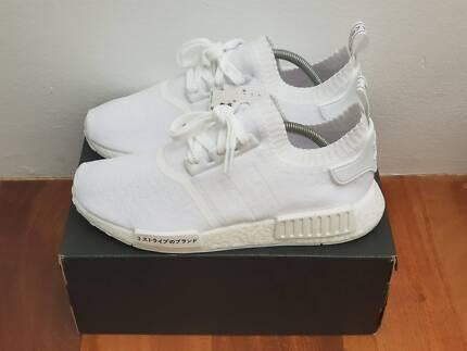 """Adidas NMD R1 PK """"Triple White"""" US 9 BRAND NEW W/ TAGS"""