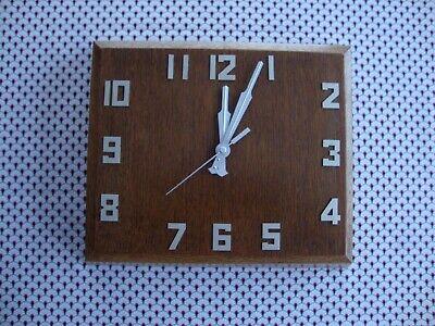 Stunning Art Deco Square Oak Wall Clock (Fully Restored, New Movement)