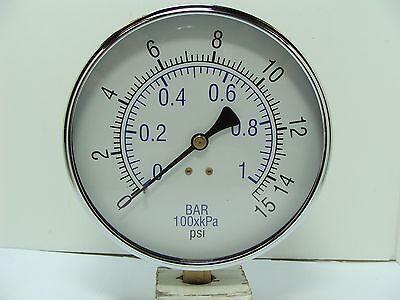 101d-454b 4-12 Dry Utility Pressure Gauge Black Steel 14 Npt Lm 0 To 15 Psi
