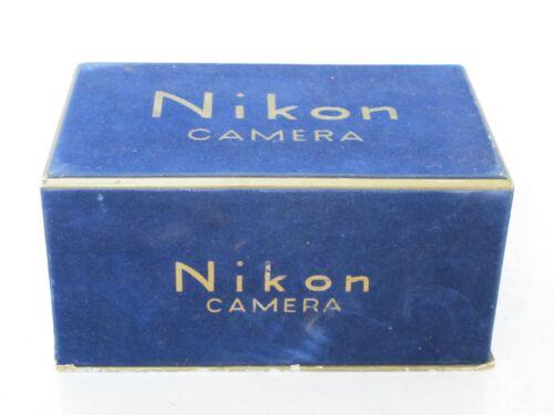 """Nikon RF rangefinder M/S blue velvet BOX with gold lettering  """"LQQK"""" US SELLER"""