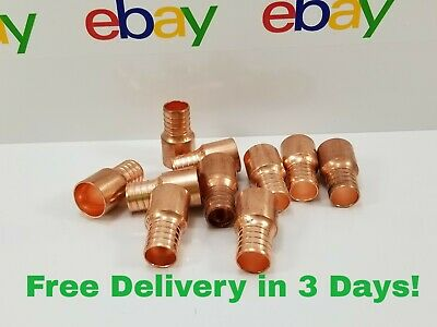 10 Pcs 1 Pex X 1 Copper Fitting Adapter - Male Sweat Adapter