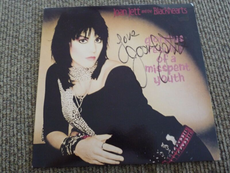 Jaon Jett & The Blackhearts ALL 4 EARLY Band Autographed Signed  LP Album Record