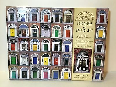 DUBLIN Traditional GEORGIAN DOORS Set of 4 Irish Placemats Ireland Table Image