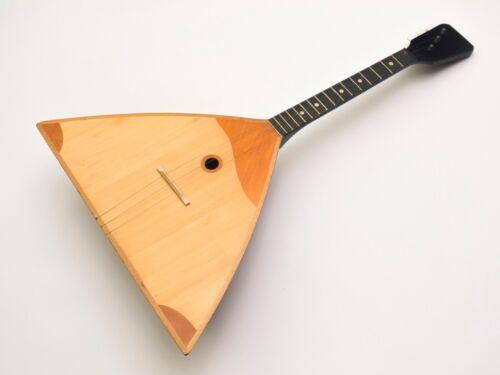 Vintage LENINGRAD 3 string original Soviet Balalaika Prima, made in USSR