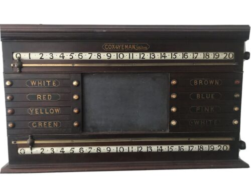 Antique Cox and Yeman London Snooker Scoreboard. Great Condition. Fully Working.