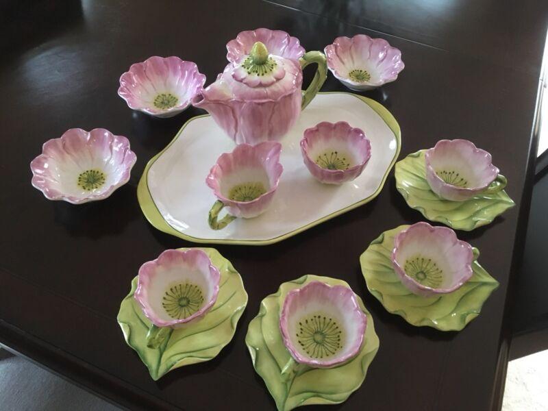 tea set porcelain(Vietri Water Garden)