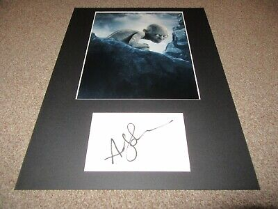 Andy Serkis autograph - signed card - Lord of the Rings - Star Wars
