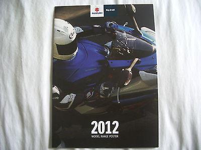 Suzuki 2012 Model Range Wall Poster