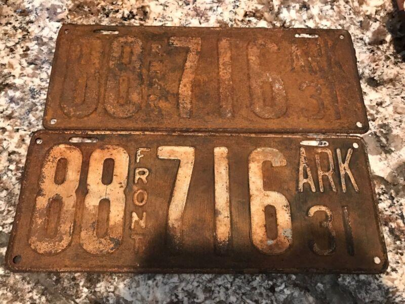1931 Arkansas License Plates 88 716
