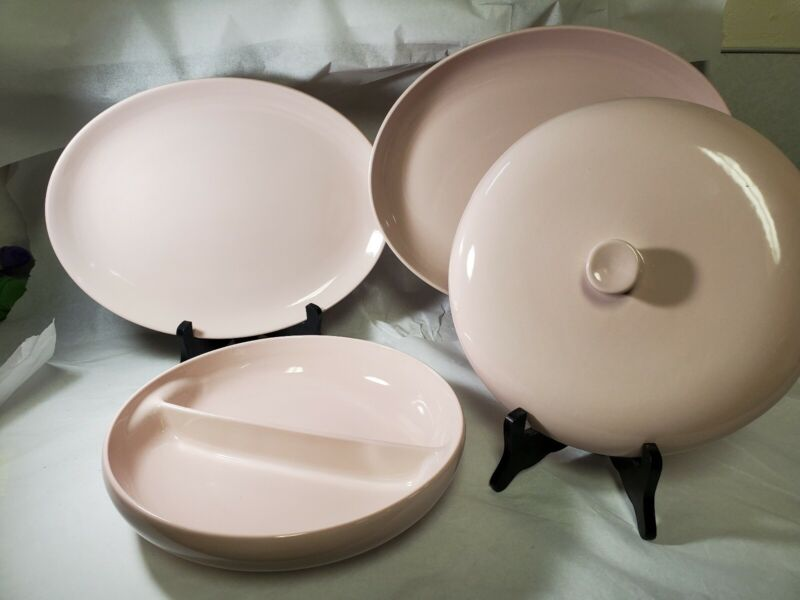 Russel Wright Iroquois Pink Service Dishes