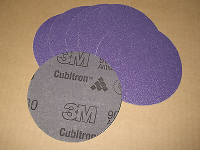 QTY6 3M PURPLE 80 GRIT 5IN PSA 900DZ CLOTH DISC STIKIT STICK