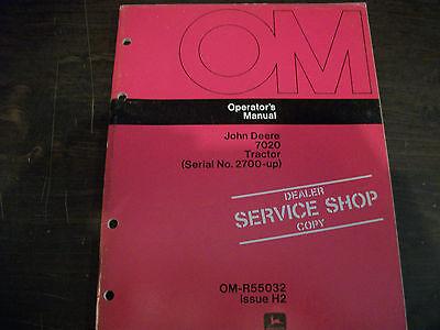 John Deere 7020 Tractor Operators Manual Om-r55032