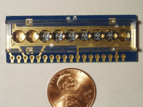 Qty 1: Rare 6-Digit LED Bubble Display National Semiconductor Gold-Plated PCB