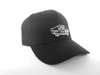 "Baseball Cool Black Peak Cap + Street ""VANS-OTW"" Black/White  Embroidered Patch"