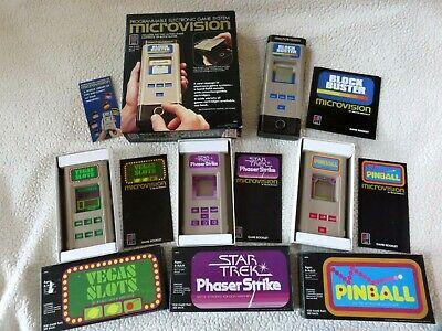 Vintage Microvision Game Console Block Buster Game+Pinball,Vegas Slots,StarTrek!