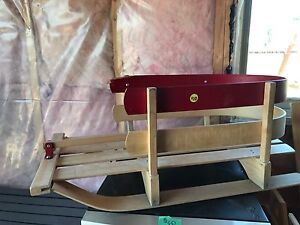 Wooden Kids Sled with Handle