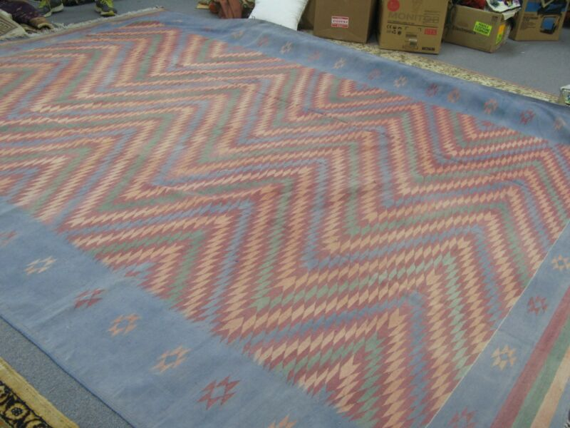 Vintage Afghan Prison Jail Cotton Hand Made Kilim Rug 10