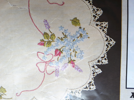 Linen tablecloth for embroidery.  137cm square. New