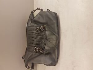 Coach authentic purse- grey  leather