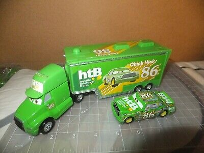 Disney Pixar Cars Team HTB #86 Hauler Truck Chick Hicks Lot Set