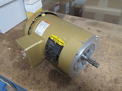 Baldor Super-e Motor Vem3542 0.75hp 1750rpm 230460v 2.281.14a 60hz Used