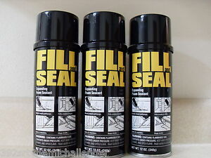 3 Cans Dow Fill and Seal Expanding Foam Sealant Insulation 12oz Same Day Ship