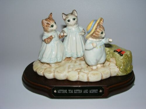 Beswick Beatrix Potter figurine tableau MITTENS TOM KITTEN and MOPPET