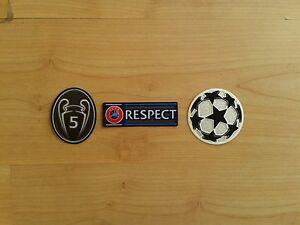 Champions League 5 Times Winner Badge/Patch Set FC Bayern München