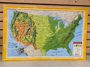 Relief Map Of United States.Relief Map Ebay