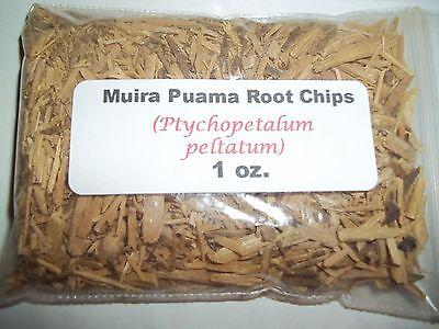 (1 oz. Muira Puama Root Chips (Ptychopetalum peltatum) )