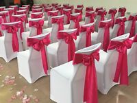 White Fitted Chair Covers for Rent