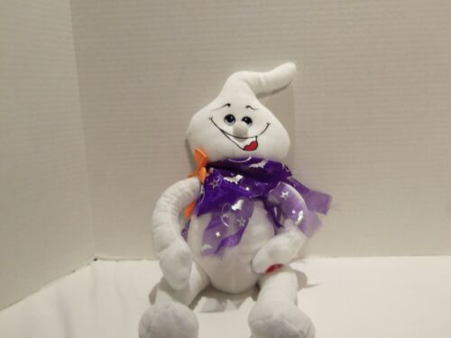 SMILING GHOST PLUSH ERRIE LAUGH-HAPPY HALLOWEEN-TALKING-ALL HALLOWS EVER-RARE