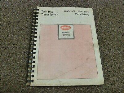 Twin Disc Tt Trt 1220-3 1420-3 1220-1 2220-1 Transmission Parts Catalog Manual