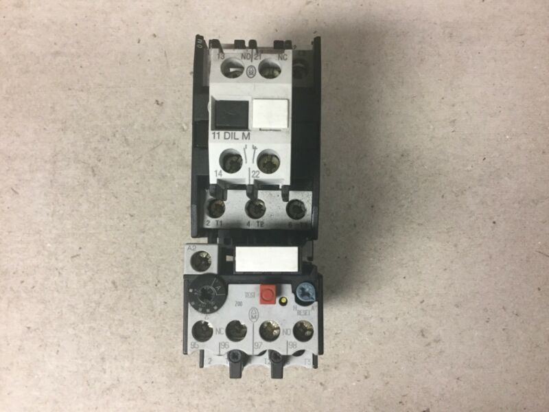 Klockner Moeller DIL0M Contactor With 230V Coil, 11DILM And Z00-24