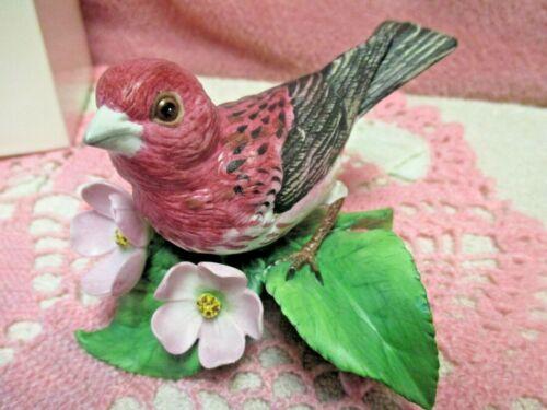 Lenox Purple Finch Fine China Porcelain Garden Bird Collectible