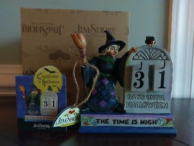 Jim Shore Beware the Witching Hour Countdown to Halloween Calendar Numbers Witch