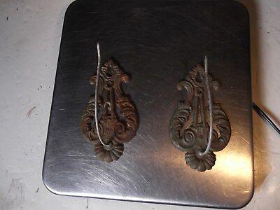 ANTIQUE Victorian Cast Iron Wall Receipt Hooks Hangers Paper Bill Mercantile