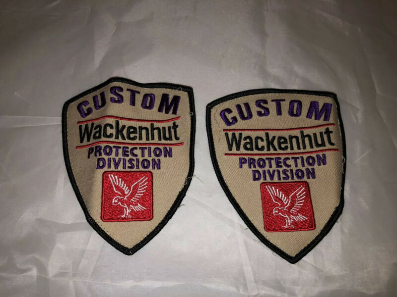 Wackenhut Security Patches Custom Protection Division 2 Patches
