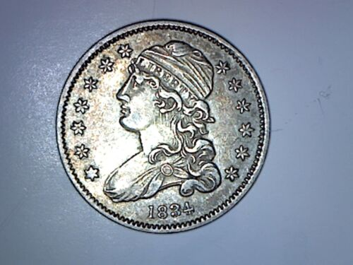 1834 BUST QUARTER XF CONDITION