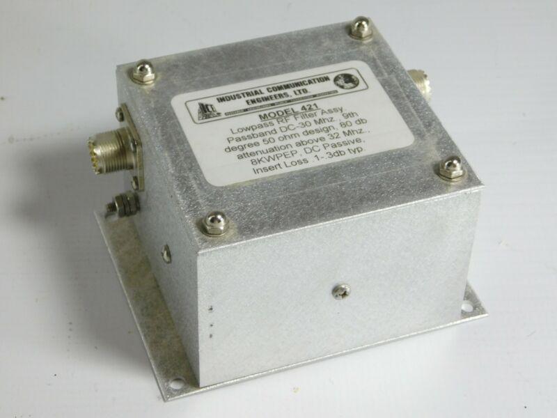 ICE Model 421 Ham Radio 8KW PEP Lowpass RF Filter Assembly (good condition)