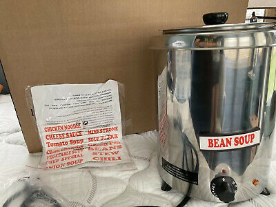 5.7 L Stainless Steel Round Countertop Food Soup Kettle Warmer Restaurant