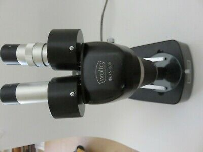 10x Wolfe Model 761509 Stereo Zoom Microscope With Dual Lights Used But Nice