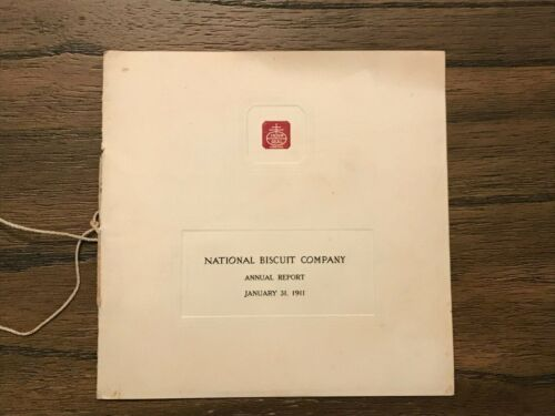 """""""National Biscuit Company Annual Report 1911"""" Adolphus Green Nabisco"""
